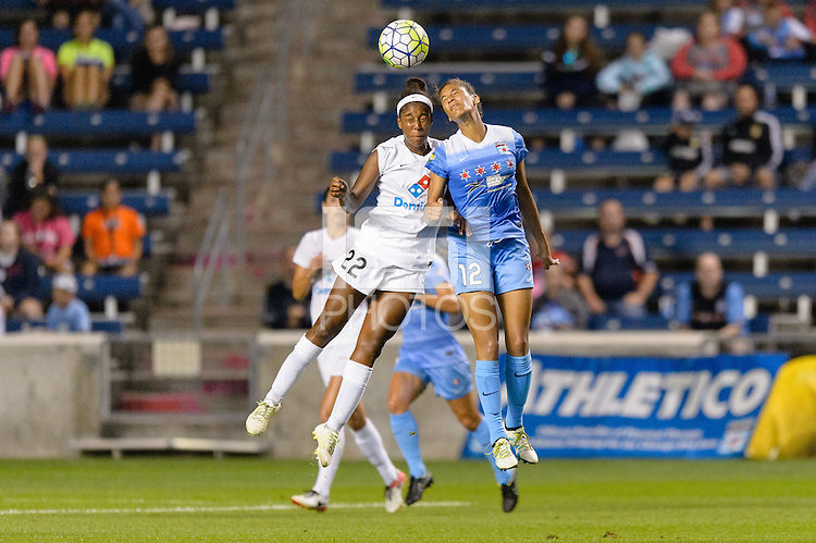 Chicago, IL - Saturday July 30, 2016: Brianne Reed, Cara Walls during a regular season National Women's Soccer League (NWSL) match between the Chicago Red Stars and FC Kansas City at Toyota Park.