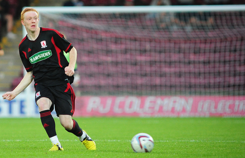 Middlesbrough's Luke Williams ..Football Friendly - Scunthorpe United v Middlesbrough - Wednesday 8th August 2012 - Glanford Park - Scunthorpe..