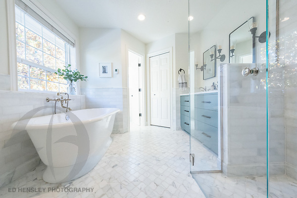 Bathroom remodel. Design by Kristyn Bester Design. Cap and Feather Photography.