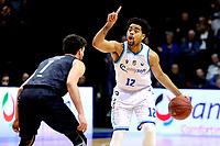 GRONINGEN - Basketbal, Donar - Apollo , Martiniplaza, Dutch Basketbal League seizoen 2019-2020, 18-1-2020,  Donar speler Carrington Love met Apollo speler Noam Hasson
