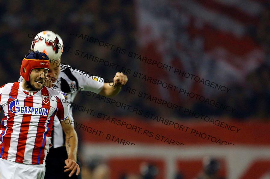 Fudbal Super liga season 2013-2014<br /> Crvena Zvezda v Partizan <br /> Milos Ninkovic<br /> Beograd, 02.11.2013.<br /> foto: Srdjan Stevanovic/Starsportphoto &copy;