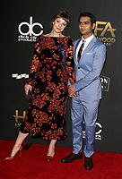 BEVERLY HILLS, CA - NOVEMBER 5: Kumail Nanjiani, Emily V. Gordon, at The 21st Annual Hollywood Film Awards at the The Beverly Hilton Hotel in Beverly Hills, California on November 5, 2017. Credit: Faye Sadou/MediaPunch