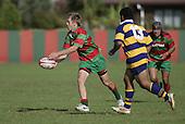 S. Kennedy passes wide. Counties Manukau Premier Club Rugby, Waiuku vs Patumahoe played at Rugby Park, Waiuku on the 8th of April 2006. Waiuku won 18 - 15