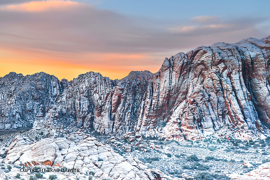 RARE DUSTING OF SNOW ON NEW YEARS DAY 2015, SNOW CANYON