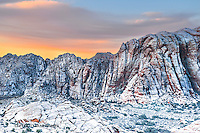 RARE DUSTING OF SNOW ON NEW YEARS DAY 2015, SNOW CANYON SNOW CANYON STATE PARK- IVINS- ST. GEORGE, UTAH