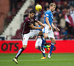Hearts v St Johnstone...02.08.15   SPFL Tynecastle, Edinburgh<br /> Igor Rossi and David Wotherspoon<br /> Picture by Graeme Hart.<br /> Copyright Perthshire Picture Agency<br /> Tel: 01738 623350  Mobile: 07990 594431