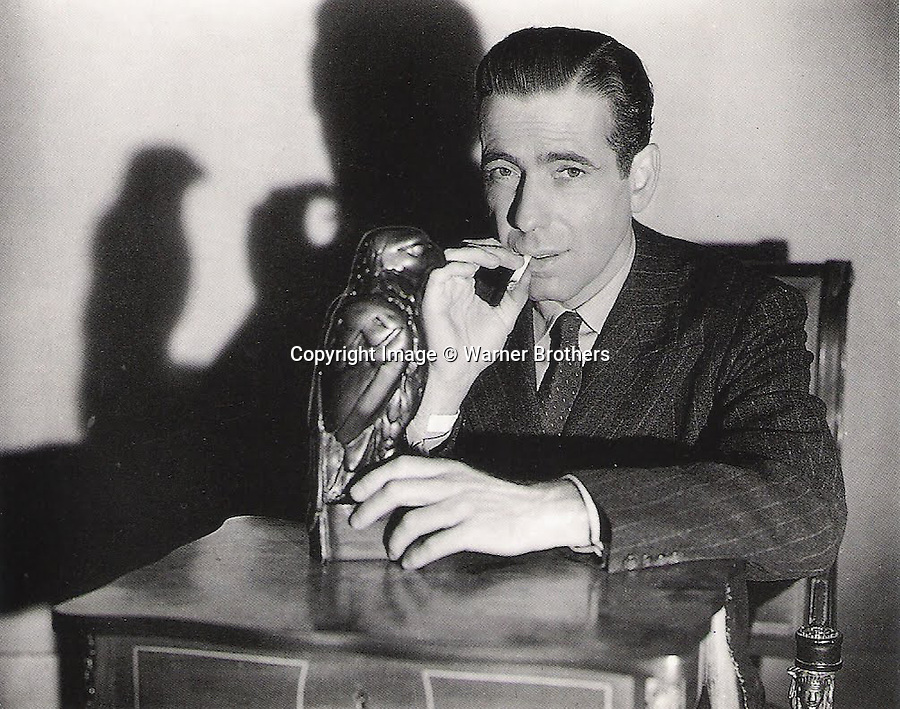 BNPS.co.uk (01202) 558833<br /> Picture: WarnerBrothers<br /> <br /> Million Dollar prop...<br /> <br /> The Maltese Falcon - this unremarkable statue is being being hailed as the 'most important prop in cinema history' and is set to break all records when it goes on sale at Bonhams in New York later on this year.<br /> <br /> <br /> The lead statue which famously turned out to be a worthless dud in the Hollywood blockbuster The Maltese Falcon is now on the market for £1million. In the 1941 hit film the 12-inch falcon statue was the object of desire of silver screen star Humphrey Bogart, who wrongly believed it to be a priceless solid gold antique. The 50lbs model was dropped during filming denting the bird's tail feathers - and the damage can be spotted in several key scenes. Despite going on display in top museums around the world it has never appeared at auction before.