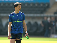 Leinster's Joey Carbery during the pre match warm up<br /> <br /> Photographer Simon King/CameraSport<br /> <br /> Guinness PRO12 Round 19 - Ospreys v Leinster Rugby - Saturday 8th April 2017 - Liberty Stadium - Swansea<br /> <br /> World Copyright &copy; 2017 CameraSport. All rights reserved. 43 Linden Ave. Countesthorpe. Leicester. England. LE8 5PG - Tel: +44 (0) 116 277 4147 - admin@camerasport.com - www.camerasport.com