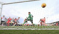 Cameron McGeehan of Luton Town watches the ball hit the back of the net during the Sky Bet League 2 match between York City and Luton Town at Bootham Crescent, York, England on 27 February 2016. Photo by Liam Smith.
