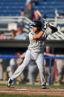 Connecticut Tigers third baseman Steven Fuentes (24) at bat during a game against the Batavia Muckdogs on July 21, 2014 at Dwyer Stadium in Batavia, New York.  Connecticut defeated Batavia 12-3.  (Mike Janes/Four Seam Images)