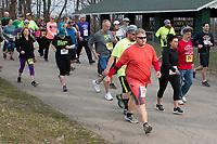 The 2017 Barnesville Park Rotary Lake 5K walk/run, Barnesville, Ohio March 25, 2017.