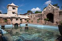 Yogyakarta, Java, Indonesia.  Taman Sari, the Water Castle, mid-18th. Century, incorporating Islamic, Hindu, Chinese, Javanese, and Portuguese Influences in the Design.