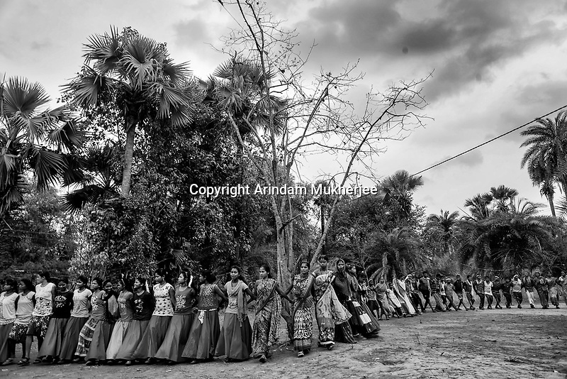 Tribal people dance before the day they start sowing in their fields. Sukma, Chattisgarh, India. Arindam Mukherjee