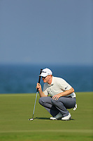 Richard McEvoy (ENG) during the first round of the NBO Open played at Al Mouj Golf, Muscat, Sultanate of Oman. <br /> 15/02/2018.<br /> Picture: Golffile | Phil Inglis<br /> <br /> <br /> All photo usage must carry mandatory copyright credit (&copy; Golffile | Phil Inglis)