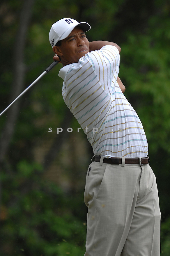 Tiger Woods during the week of May 1- May  6, 2007 at the  PGA'S Wachovia Golf Championship at the Quail Hollow Country Club in Charlotte, North Carolina.   Tiger Woods would win the tournament by two strokes over Steve Stricker...photo by Don Kelly