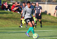 Boyds, MD - Saturday May 07, 2016: Portland Thorns FC goalkeeper Adrianna Franch (24) before a regular season National Women's Soccer League (NWSL) match at Maureen Hendricks Field, Maryland SoccerPlex. Washington Spirit tied the Portland Thorns 0-0.