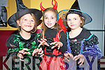 Grace Joy, Hannah Hallissey and Rebecca McHugh were in full costume for the Halloween disco in Beaufort Community Centre on Friday night.   Copyright Kerry's Eye 2008