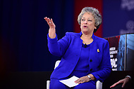 National Harbor, MD - February 22, 2018: Heritage Foundation president Kay Coles James participates in a discussion during the Conservative Political Action Conference (CPAC) at the Gaylord National Hotel in National Harbor, MD, February 22, 2018  (Photo by Don Baxter/Media Images International)