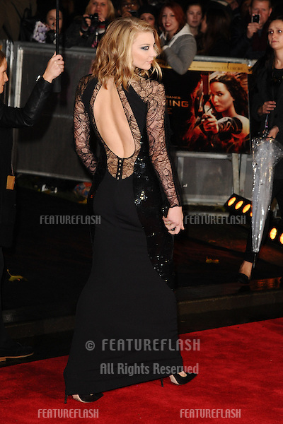 "Natalie Dormer arriving for the World Premiere of ""The Hunger Games: Catching Fire"" in Leicester Square, London. 11/11/2013 Picture by: Steve Vas / Featureflash"