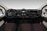 Stock photo of straight dashboard view of 2017 Peugeot Boxer 410 4 Door Parcel Van Dashboard