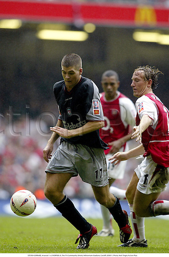 STEVEN GERRARD, Arsenal 1 v LIVERPOOL 0, The F A Community Shield, Millennium Stadium, Cardiff, 020811. Photo: Neil Tingle/Action Plus...soccer association football.2002.english league.charity