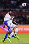 Waleed Mohamed Alhayam of Bahrain heads the ball during the AFC Asian Cup UAE 2019 Group A match between India (IND) and Bahrain (BHR) at Sharjah Stadium on 14 January 2019 in Sharjah, United Arab Emirates. Photo by Marcio Rodrigo Machado / Power Sport Images