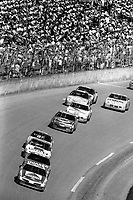Morgan Shepherd leads a pack of cars, Daytona 500, NASCAR Winston Cup race, Daytona International Speedway, Daytona Beach, FL, February 1994(Photo by Brian Cleary/bcpix.com)