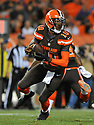 CLEVELAND, OH - SEPTEMBER 1, 2016: Quarterback Robert Griffin III #10 of the Cleveland Browns rolls out to pass in the first quarter of a game on September 1, 2016 against the Chicago Bears at FirstEnergy Stadium in Cleveland, Ohio. Chicago won 21-7. (Photo by: 2016 Nick Cammett/Diamond Images)  *** Local Caption *** Robert Griffin III
