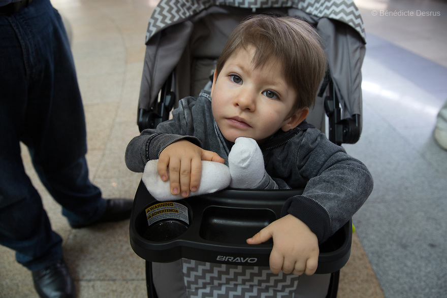 Diego Emilio Lozada, a 23-month-old Mexican boy, attends an annual meeting organized by Fundación María José, the Prader-Willi association of Mexico, in Mexico City, Mexico on April 9, 2017. Diego weighs 13.5 kilograms (29.7 pounds) and stands 89 centimeters tall (2 feet 11 inches). He has been taking growth hormones since being diagnosed with Prader-Willi syndrome at nine months old.  He eats five meals a day and follows a strict sugar- and wheat-free diet. Prader-Willi Syndrome (PWS) is a rare genetic disorder caused by an abnormality in chromosome 15. Innewbornssymptoms includeweak muscle tone (hypotonia), poor appetite and slow development. In childhood the person experiences a sensation of constant hunger no matter how much he/she eats which often leads toobesityandType 2 diabetes. There may also be mild to moderateintellectual impairmentand behavioral problems. Physical characteristics include a narrow forehead, small hands and feet, short in stature, and light skin color. Prader-Willi syndrome has no known cure. However, with early diagnosis and treatment such as growth hormone therapy, the condition may improve. Strict food supervision is typically required. PWSaffects an estimated 1 in 10,000 to 30,000 people worldwide. (Photo by Bénédicte Desrus)