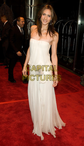 """ZANI GUGELMANN.New Yorkers For Children's """"New Year's In April: A Fool's Fete"""" at the Mandarin Oriental, New York, NY, USA..April 16th, 2008.full length white drop waist dress .CAP/LNC/TOM.©TOM/LNC/Capital Pictures."""