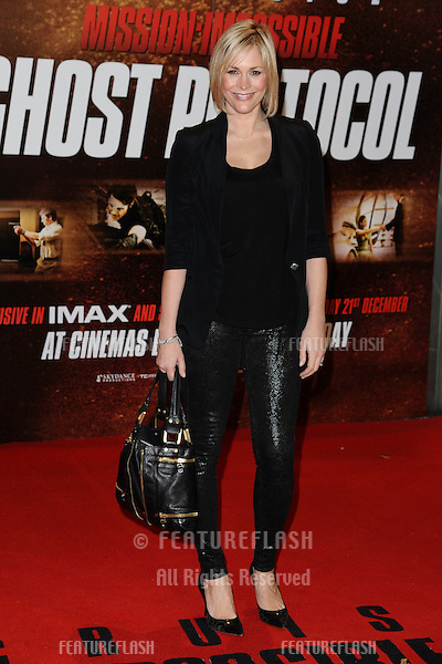 "Jenni Falconer arriving for the premiere of ""Mission Impossible Ghost Protocol"" at the IMAX cinema, South Bank, London. 13/12/2011 Picture by: Steve Vas / Featureflash"