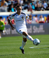 LA Galaxy forward Landon Donovan (10) plays the ball.  The LA Galaxy tied the Chicago Fire 1-1 at Toyota Park in Bridgeview, IL on September 4, 2010