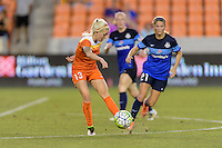 Houston, TX - Sunday June 19, 2016: Denise O'Sullivan during a regular season National Women's Soccer League (NWSL) match between the Houston Dash and FC Kansas City at BBVA Compass Stadium.