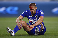 26th July 2020, Turin, Italy; Gaston Ramirez receives a head injury during the Seria A league game, Juventus versus Sampdoria