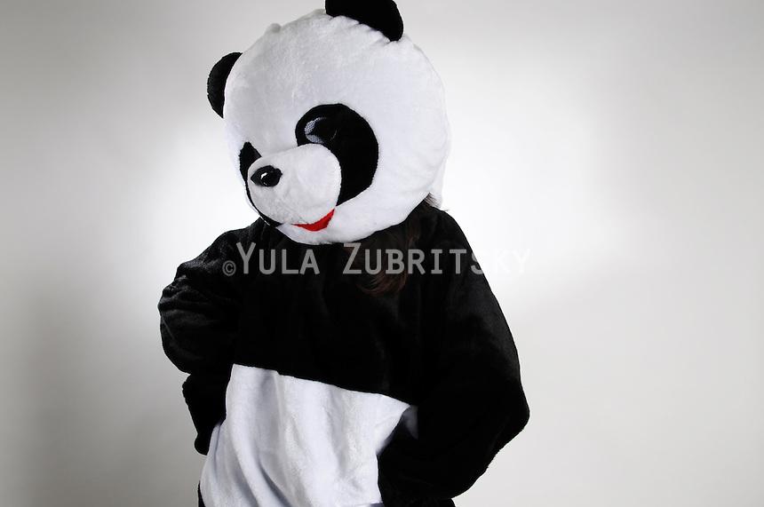 Purim Jewish holiday costume<br /> Panda bear