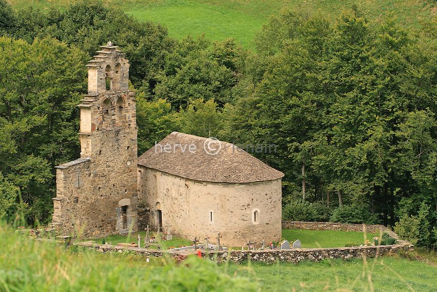 France, Hautes-Pyrénées (65), Vallée de la Neste d'Aure, Aragnouet, chapelle des Templiers // France, Hautes-Pyrenees, Neste d'Aure valley, Aragnouet, chapel of the Templiers (Templars)