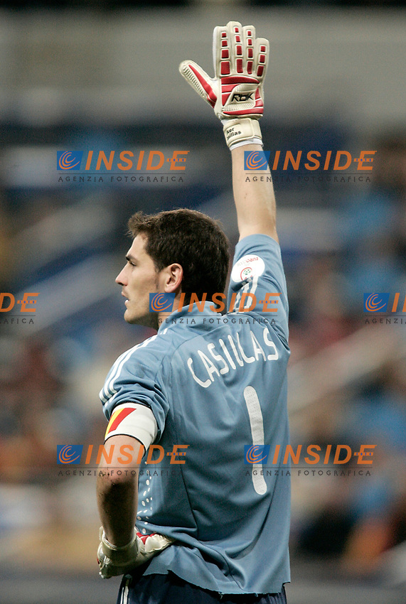 Spain's national team Iker Casillas during Euro 2008 qualifying match, November 17, 2007. (Insidefoto/ALTERPHOTOS/Alvaro Hernandez). <br /> Qualificazioni Euro2008 Spagna Svezia