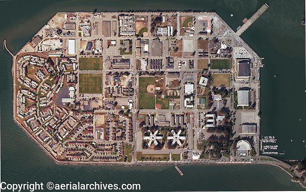 aerial map Treasure island San Francisco, California