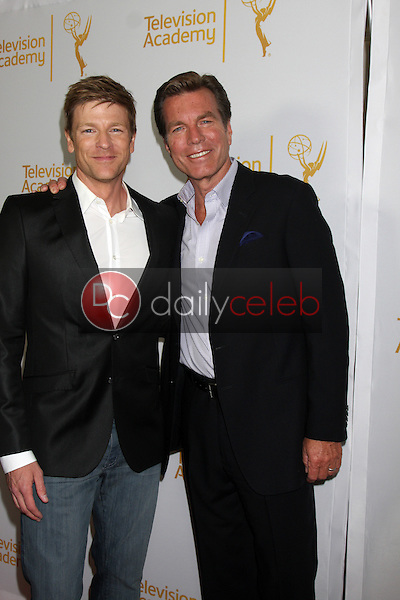 LOS ANGELES - JUN 19:  Burgess Jenkins, Peter Bergman at the ATAS Daytime Emmy Nominees Reception at the London Hotel on June 19, 2014 in West Hollywood, CA