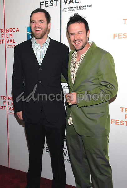 """26 April 2005 - New York, New York - Directoer Jay Alaimo and David Arquette attend the premiere of their new film, """"Slingshot"""", at the Tribeca Film Festival in downtown Manhattan.  Photo Credit: Patti Ouderkirk/AdMedia"""