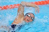 15 October 2010:  FIU's Kelly Boyd competes in the 200 yard freestyle during the meet between the FIU Golden Panthers and the University of Miami Hurricanes at the Norman Whitten Student Union Pool in Coral Gables, Florida.