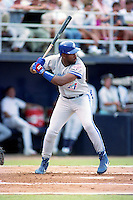 Toronto Blue Jays outfielder Joe Carter during the Major League Baseball All-Star Game at Jack Murphy Stadium  in San Diego, California.  (MJA/Four Seam Images)