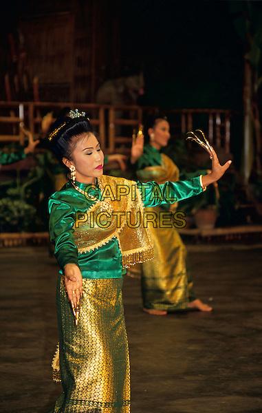 Female fingernail dancer, Riverside Rose Garden, Sampran, Nakorn Pathom, near Bangkok, Thailand