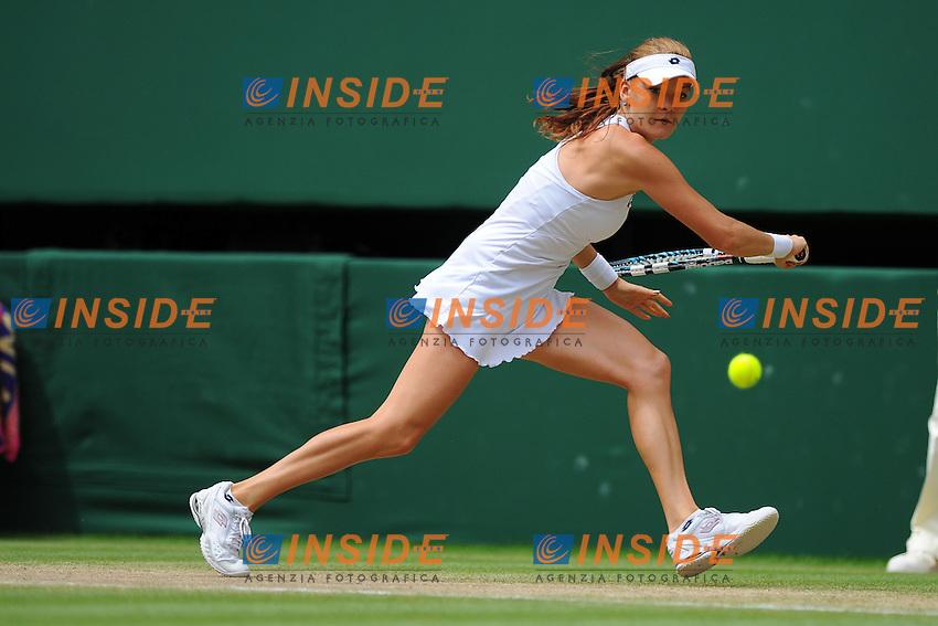 Agnieszka Radwanska (Polonia) .Wimbledon 6/7/2012 Tennis.Grande Slam.Foto Insidefoto / Couvercelle / Panoramic.ITALY ONLY.
