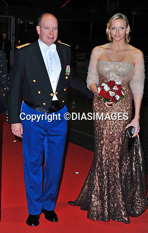 "MONACO NATIONAL DAY 2010 (Fête Nationale Monégasque 2010).Prince Albert accompanied by his fiancée Charlene Wittstock and sister Caroline, Princess of Hanover attend the Opera at the Grimaldi Forum as past of Monaco's National Day celebrations. Monaco_19/11/2010 .Mandatory Photo Credit: ©DiasImages..**ALL FEES PAYABLE TO: ""NEWSPIX INTERNATIONAL""**..PHOTO CREDIT MANDATORY!!: NEWSPIX INTERNATIONAL(Failure to credit will incur a surcharge of 100% of reproduction fees)..IMMEDIATE CONFIRMATION OF USAGE REQUIRED:.Newspix International, 31 Chinnery Hill, Bishop's Stortford, ENGLAND CM23 3PS.Tel:+441279 324672  ; Fax: +441279656877.Mobile:  0777568 1153.e-mail: info@newspixinternational.co.uk"