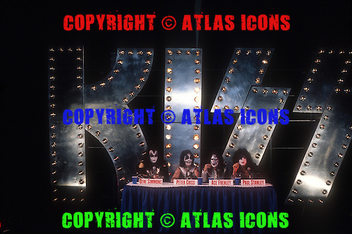 KISS; 1996 Reunion Press Conference; Intrepid Air Museum New York City, <br /> Photo Credit: Eddie Malluk/Atlas Icons.com