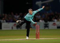 Gareth Batty bowls for Surrey during Kent Spitfires vs Surrey, Vitality Blast T20 Cricket at the St Lawrence Ground on 23rd August 2019