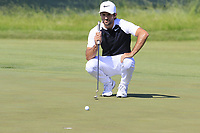 Joel Stalter (FRA) on the 6th green during Friday's Round 2 of the 117th U.S. Open Championship 2017 held at Erin Hills, Erin, Wisconsin, USA. 16th June 2017.<br /> Picture: Eoin Clarke | Golffile<br /> <br /> <br /> All photos usage must carry mandatory copyright credit (&copy; Golffile | Eoin Clarke)