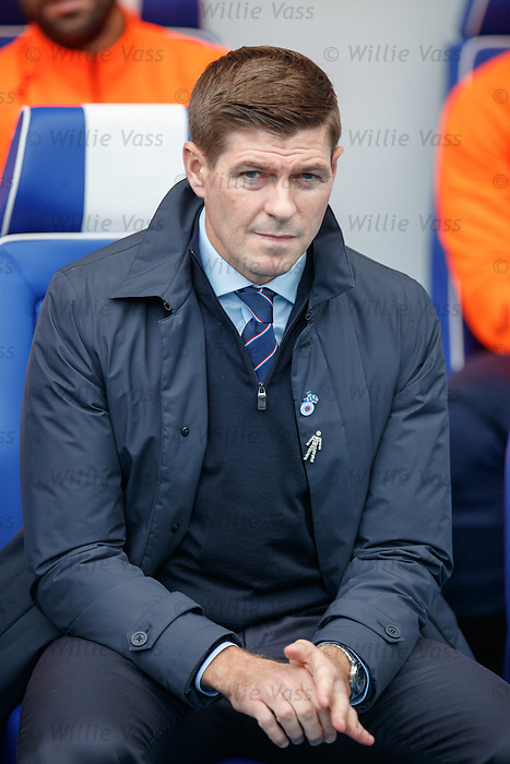 28.09.2018 Rangers v Aberdeen: Steven Gerrard