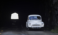 A car enthusiast drives through 'Turners Tunnel'  which straddles the border between Glengarriffe in County Cork and Bonane in County Kerry as it participates in the annual Kingdom Veteran, Vintage, and Classic Car run at the weekend.<br /> Picture by Don MacMonagle